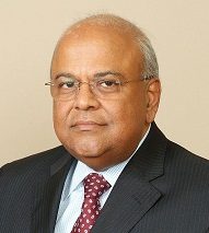 Pravin Gordhan, SA Minister of Publce Enterprises, appearing in a news report in Africa PORTS & SHIPS maritime news