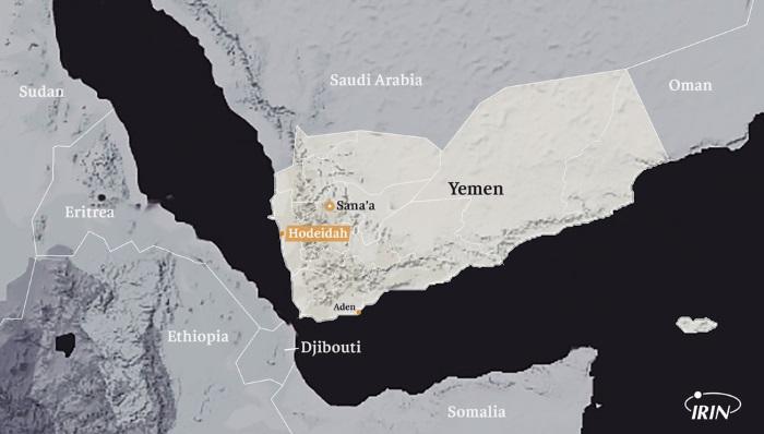 map of yemen and port of Hodeidah, where it is feared that a battle will soon take place. From a feature by IRIN carried with Africa PORTS & SHIPS maritime news