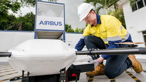 Drone - parcel loading, from a story appearing in Africa PORTS & SHIPS maritime news
