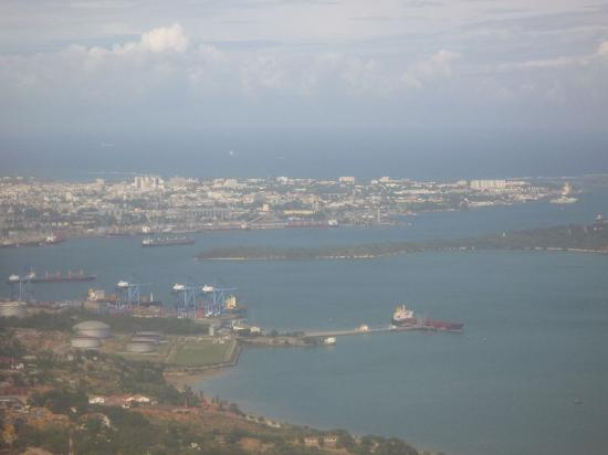 View of Mombasa, Kenya's main port, appearing in  report in Africa PORTS & SHIPS maritime news