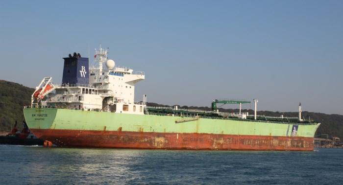 BW Yangtze. Pictures: Keith Betts, featured in Africa PORTS & SHIPS maritime news
