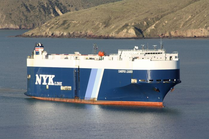 Canopus Leader in Lyttelton, New Zealand, featured in Africa PORTS & SHIPS maritime news. Picture: Alan Calvert