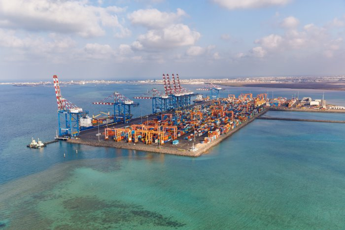 Doraleh container terminal port, Djibouti, as appearing in report in Africa PORTS & SHIPS maritime news