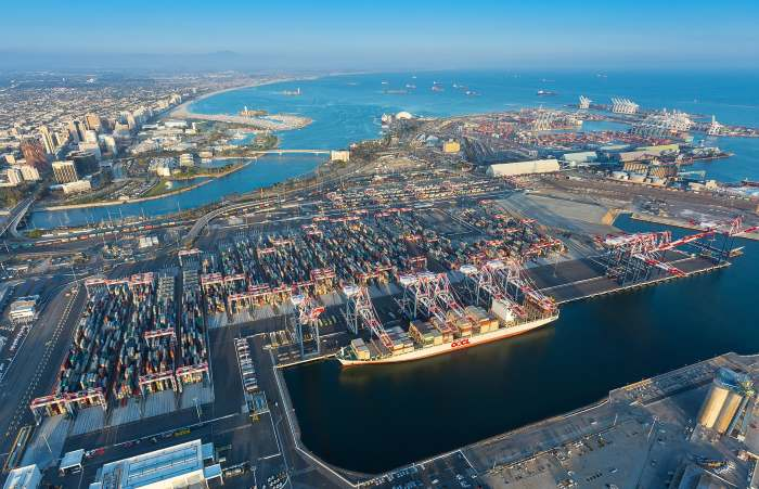 Port of Long Beach, California, as appearing in Africa PORTS & SHIPS maritime news