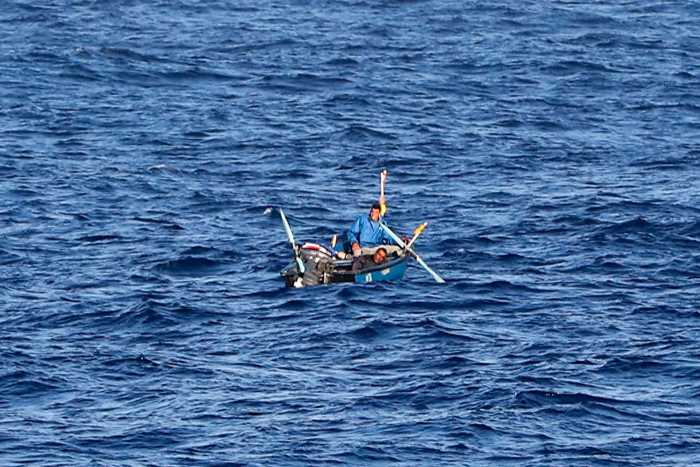 Two fishermen adrift for a number of days in the western Mediterranean were rescued by Royal Navy ship HMS Duncan, from a news report appearing with Africa PORTS & SHIPS maritime news