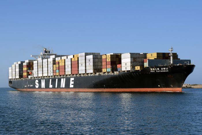 MSC Savannah. Picture: Trevor Jones, featured in Africa PORTS & SHIPS maritime news