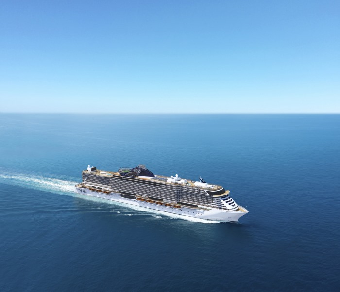 MSC Seaview which was delevered at the beginning of June 2018 and will sail initially in the Mediterrana. This picure and story appears in Africa PORTS & SHIPS maritime news