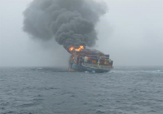 Fire at sea, featured in Africa PORTS & SHIPS maritime news