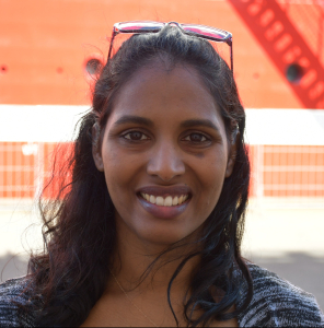 DEA marine scientist (biological oceanography), Ms Keshnee Pillay at this year's World Ocean Day observation event at Durban harbour, appearing in Africa PORTS & SHIPS maritime news