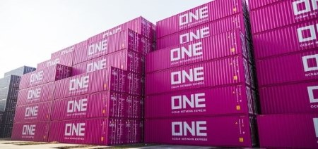 ONE Line containers, appearing in Africa PORTS & SHIPS maritime news