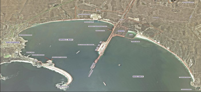 Saldanha Bay harbour, featured in report in Africa PORTS & SHIPS maritime news