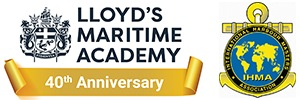 Lloyd's Maritime Academy banner and logo, appearing in Africa PORTS & SHIPS maritime news