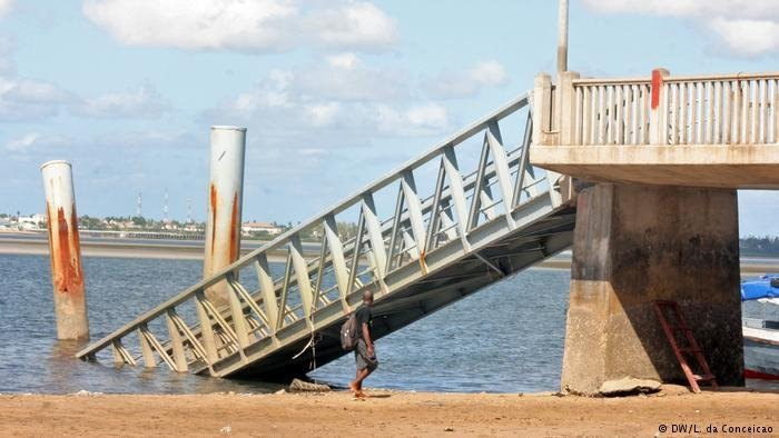 The damaged jetty in 2017, featured in Africa PORTS & SHIPS maritime news