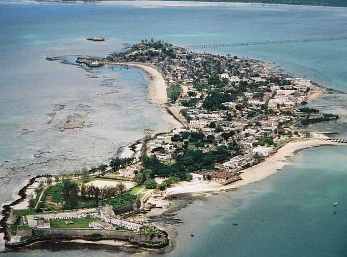 Mozambique Island, where the damaged sea wall is to be repaired.  From a news feature in Africa PORTS & SHIPS