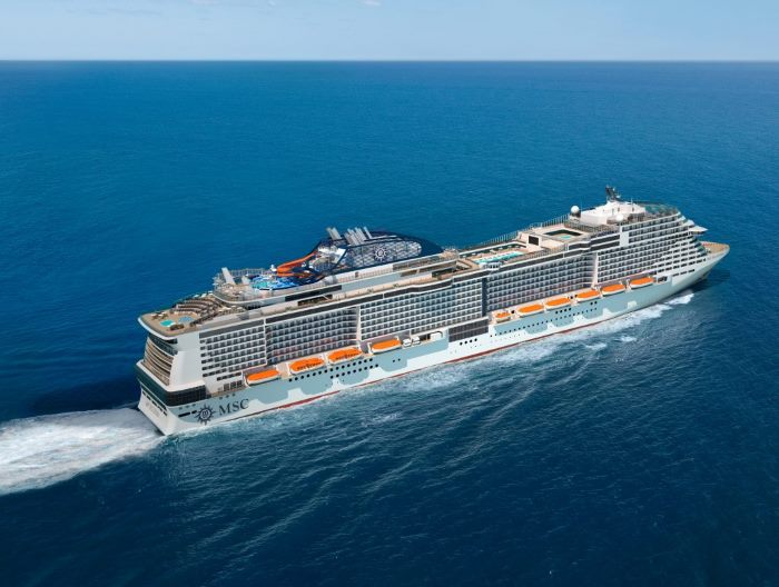 depiction of the future MSC BELLISIMA, as feastured in article in Africa PORTS & SHIPS maritime news