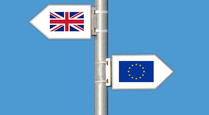 Brexit & Europe flags