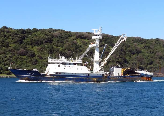 Dongwon Industries fishig vessel ADRIA sailing from Durban June 2018, featured in Africa PORTS & SHIPS maritime news. Photo by Sheree Cronwright