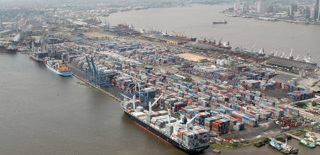 aerial view of Apapa, Lagos, featured in report in Africa PORTS & SHIPS maritime news