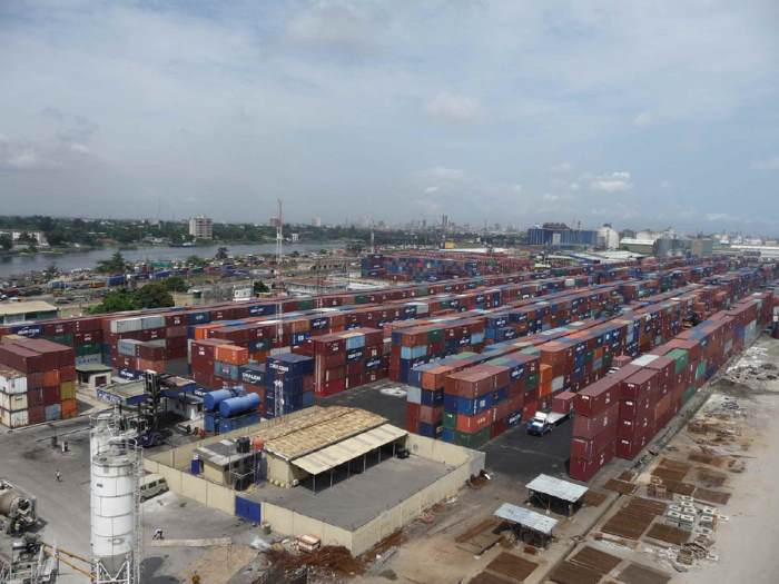 Apapa terminal in Lagos where the suspension on four terminalk companies has been conditionally lifted. Appearing ina report in Africa PORTS & SHIPS maritime news. Picture: OTAL