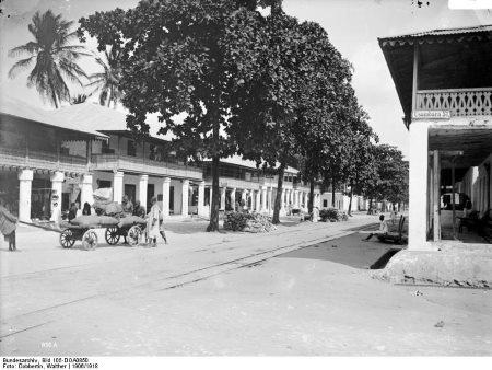 b4f8aa83f Street scene in German colonial era Tanga circa 1910. Picture  Wikipedia  Commons