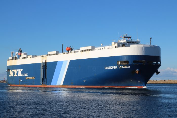 Cassiopeia Leader. Pictures: Keith Betts, featured in  Africa PORTS & SHIPS maritime news