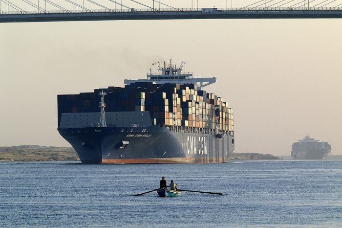 CMA CGM Otello, featured in news report carried by Africa PORTS & SHIPS maritime news