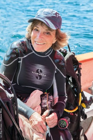 Dr Sylvia Earle. Picture courtesy: Kip Evans, featured in report carried by Africa PORTS & SHIPS maritime news