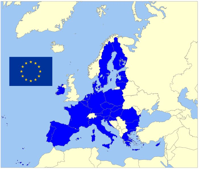map of he EU minus the UK, featured in Africa PORTS & SHIPS maritime news