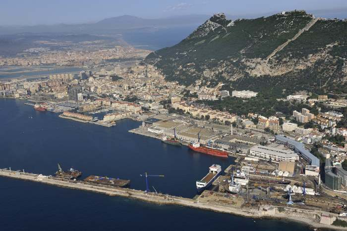 Gibdock at Gibraltar, as featured in reoport in Africa PORTS & SHIPS maritime news