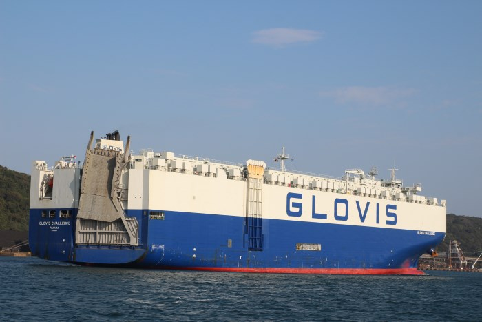 Glovis Challenge arriving at Durban later June 2018.. Pictures: Keith Betts, featured in Africa Ports & Ships maritime news
