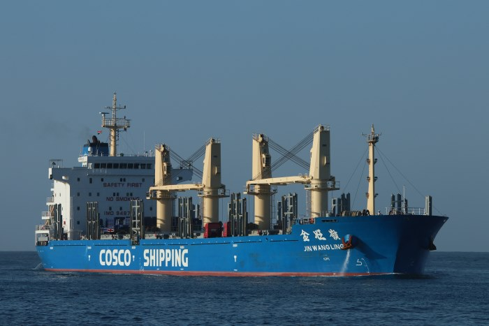 JIN WANG LING. Picture: Keith Betts, featured in Africa Ports & Ships maritime news