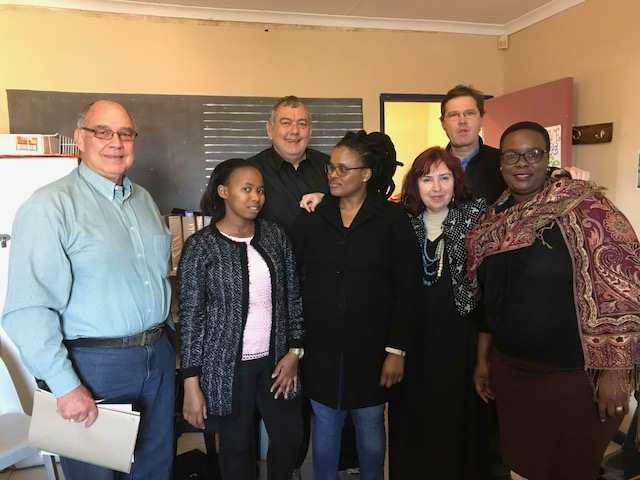 Chaplains & social workers involved with the Maredon case: [Men] l – r Revd Boet van Schalkwyk, Chaplain Steve van Schalkwyk, Revd Danie Taljard. [Ladies] Ms N. Jiya, Ms L.Ndzamela, Ms Estelle Gelderblom, Ms N Mpambani, appearing in a feature in Africa PORTS & SHIPS maritime news
