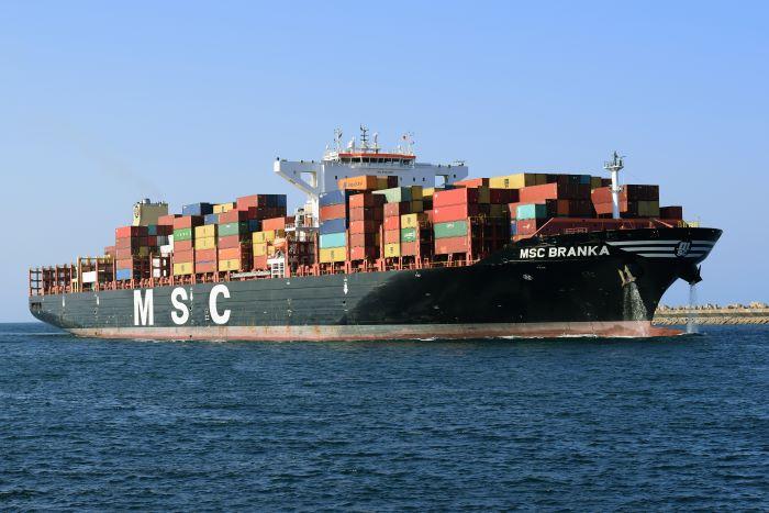 MSC Branka entering Durban port by Trevor Jones, appearing in Africa Ports & Ships maritime news
