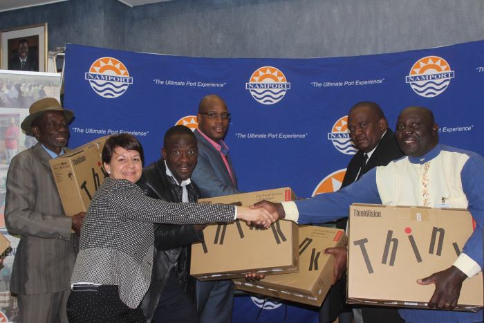 Namport's NSIF hands over 25 desktop pcs to Hungua Primary School, featuing in Africa PORTS & SHIPS maritime news
