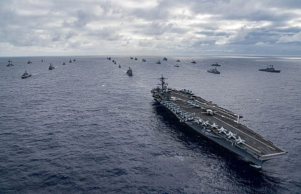 On 26 July warships from 25 nations assembled for a photo-exercise off the coast of Hawaii during RIMPAC 2018. US Navy photo by Mass Communication Specialist 3rd Class Dylan M Kinee (Released) 180726-N-MT837-226 USN © and featured in Africa PORTS & SHIPS maritime news