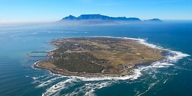 Robben Island, with Table Mountain and Cape Town in background, featured in Africa PORTS & SHIPS maritime news
