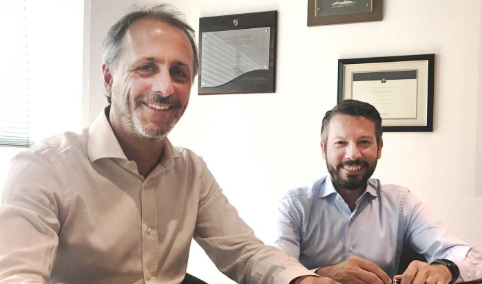 Marco Ghiglione (Managing Director, T. Mariotti), Andrea Trevisan (Damen Senior Vice President Sales & Marketing Cruise), appearing in Africa Ports & Ships maritime news