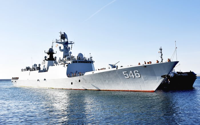Type 054A PLAN ship YANCHENG. Picture Zhu Linlin/China Military, appearing in frica PORTS & SHIPS maritime news