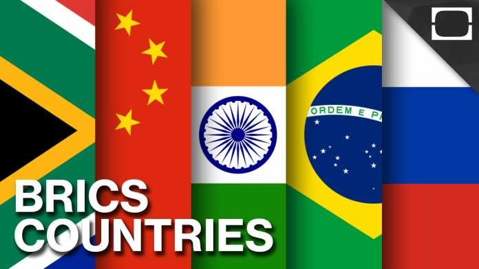 BRICS countries' banner as BRICS holds summitin JOhannesburg, July 2018, and reported in Africa PORTS & SHIPS maritime news