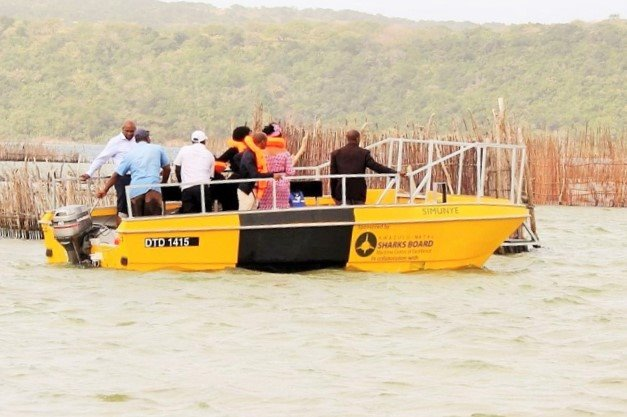 The first of the five donated boats, reported by Africa PORTS & SHIPS maritime news