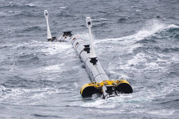A 120 metre unit of the first cleanup system being tested in towing configuration for two weeks in the Pacific Ocean, May-June 2018. Photo: The Ocean Cleanup ©, featured in Africa PORTS & SHIPS maritime news