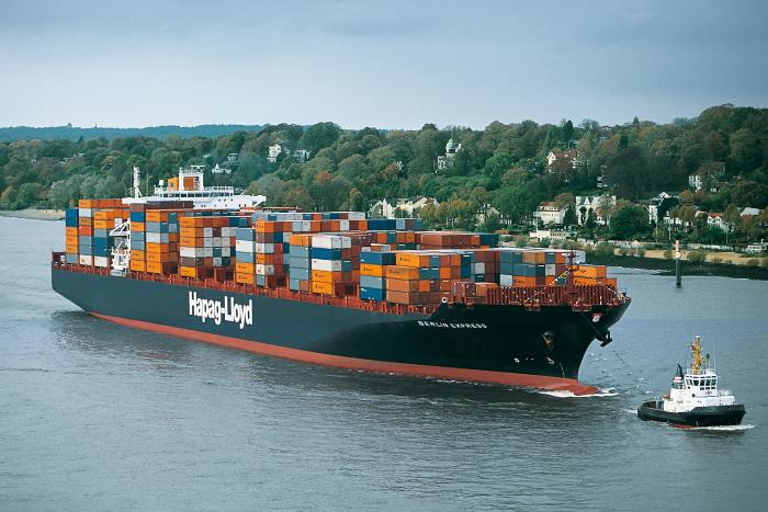 Hapag-Lloyd's Berlin Express, featured in Africa PORTS & SHIPS maritime news