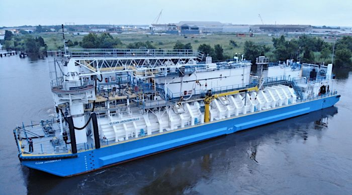 LNG bunker barge Clean jacksonville, featured in Africa PORTS & SHIPS maritime news