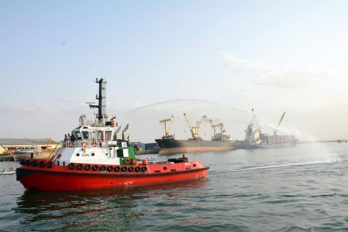 Port of Berbera's new tug EGAL. Picture: Somaliland Press, appearing in Africa PORTS & SHIPS maritime news