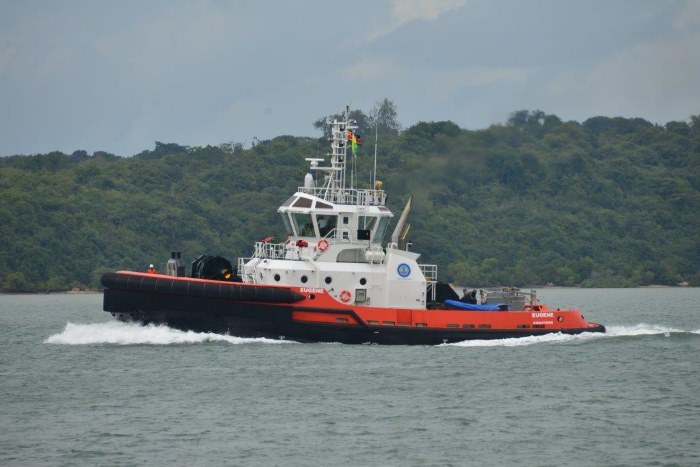 Port of Mombasa's new harbour tug Eugene, appearing in Africa PORTS & SHIPS maritime news