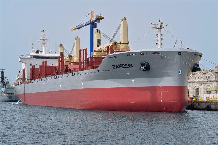 Zambesi awaiting entry for Gibdock. appearing in Africa PORTS & SHIPS maritime news