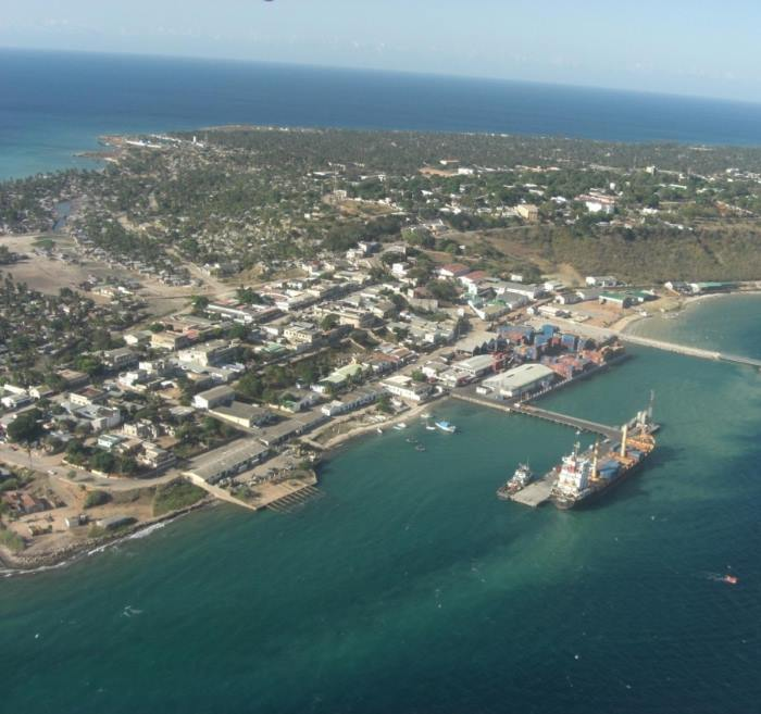 The small port and town of Pemba on the big bay in northern Mozambique, featured in Africa PORTS & SHIPS maritime news