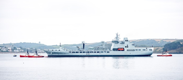 RFA Tideforce arrives at Falmouth, fatured in Africa PORTS & SHIPS maritime news