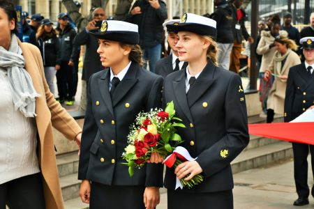 Paying tribute at the Nobel Peace Prize Garden are training crew of the Polish Tall Ship. Picture: SAMSA, appearing in Africa PORTS & SHIPS maritime news