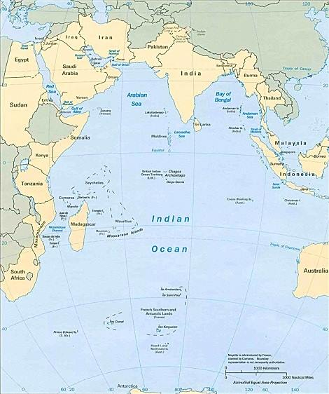 Indian Ocean and its rim of nations, featured in nAfrica PORTS & SHIPS maritime News